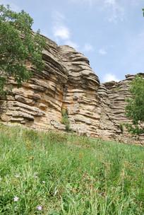 冰川侵蚀的岩石