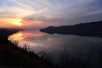 河南三门峡黄昏时刻的黄河