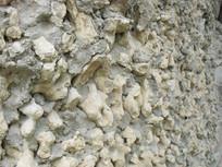 碎石垒砌的石头墙面