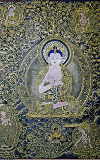 阿弥陀佛像精美刺绣