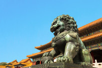 故宫狮子特写