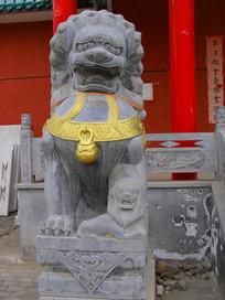 石狮子雕塑高清图