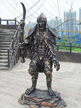 游戏中的人物雕塑