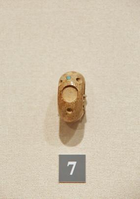 大汶口文化嵌绿松石骨指环