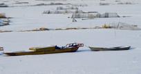 冬季的鱼船
