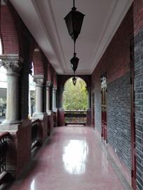 别墅回廊近景