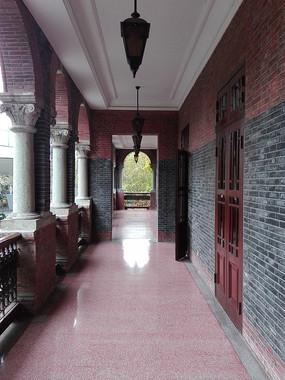 别墅回廊全景