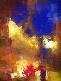 现代抽象油画之气势磅礴