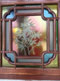 彩色浮雕花窗
