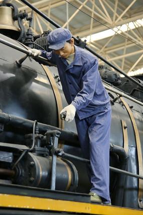 火车修理工蜡像