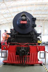 老式黑色的火车车头