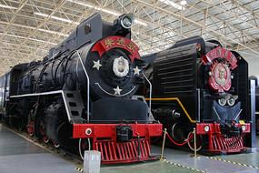 毛泽东号朱德号蒸汽机火车头
