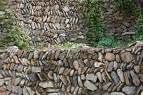 石块墙围栏背景