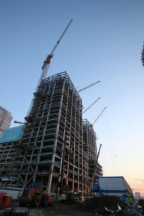 在建的丽泽商务区大厦