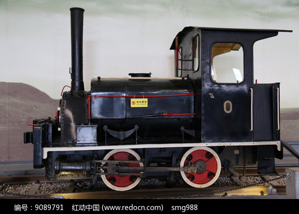 早期蒸汽机火车车头图片