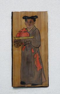 反映西夏贵族生活的木版画