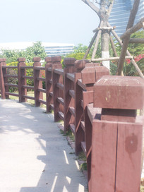 木栈道围栏