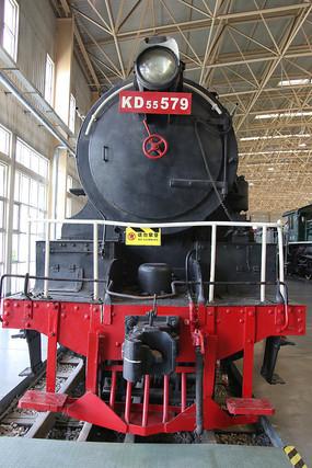 老式窄轨火车车头