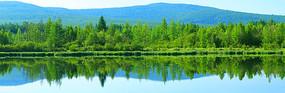 山林湖泊 (全景高清)