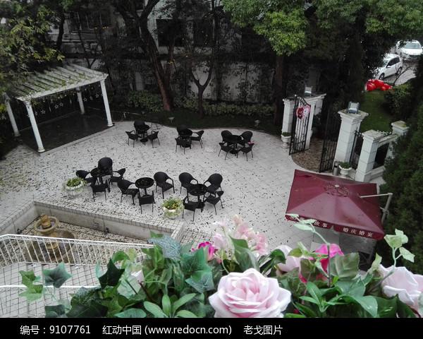 花园俯拍图片