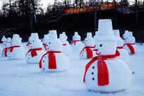 精美的雪人雪雕