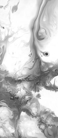 流彩水墨黑白装饰画