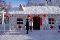 童话色彩的冰屋