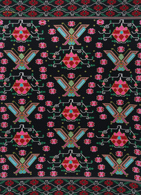 蝴蝶牡丹纹织锦