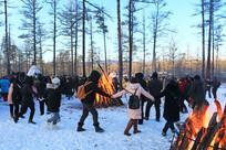 林海雪原篝火舞