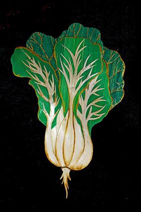 玉米秸秆画白菜