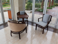 海南度假公寓休闲大厅内的座椅