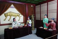 西夏历史场景雕像《依宋联辽》
