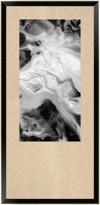 水墨抽象画黑白流彩画装饰画