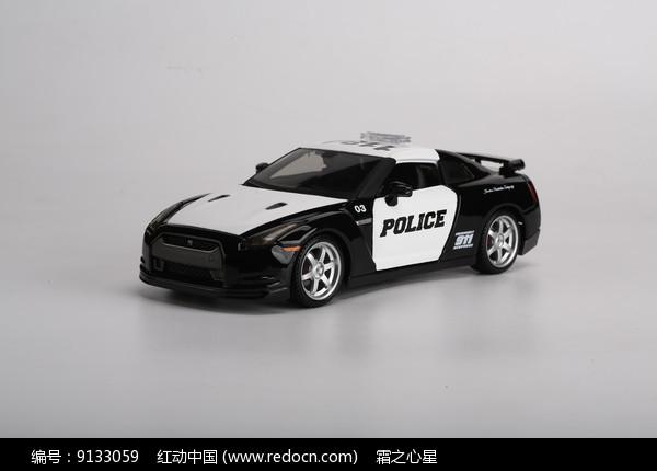 改装版尼桑GT-R警车模型图片