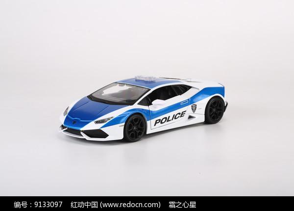 兰博基尼LP610警车模型图片