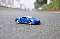 蓝色黎巴嫩跑车模型