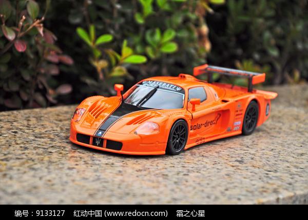 橘色玛莎拉蒂模型图片