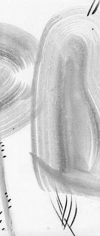 新中式 水墨画黑白抽象画