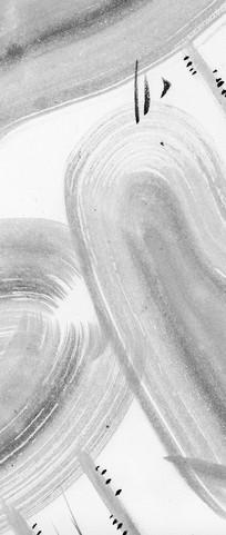 禅意水墨画黑白装饰画