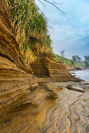 北海涠洲岛的五彩滩风光