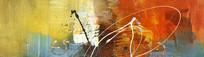抽象油画现代简约风格壁画