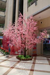 塑料腊梅花树