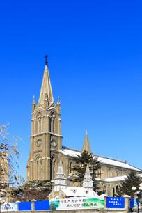 吉林市教堂主题建筑侧面