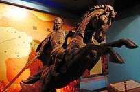 西夏李元昊骑马雕像