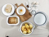 白色欧式简约餐具