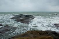 海南文昌石头公园的海水