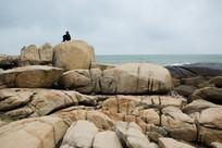 海南文昌石头公园漂亮的礁石