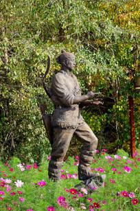 猎人 雕塑