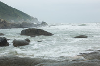 海南文昌小澳湾的风浪