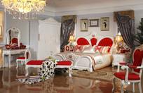 欧式卧室大床